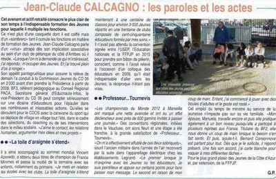"""Jean-Claude CALCAGNO fait la """"UNE"""""""