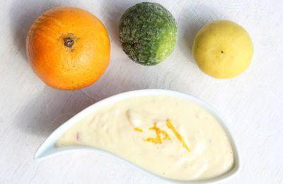 Crème au Trois Agrumes- Sauce pour poissons et crustacés