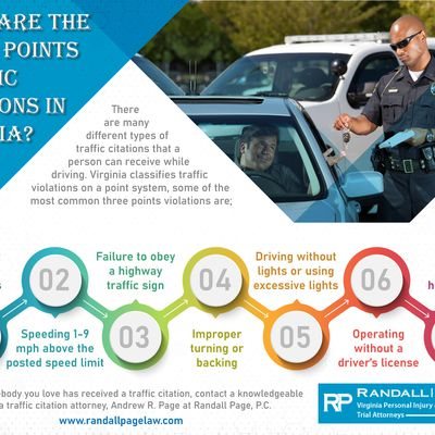 What Are The Three Points Traffic Citations In Virginia?