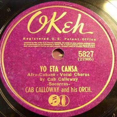 05 août 1940: Cab Calloway dans les studios de New York