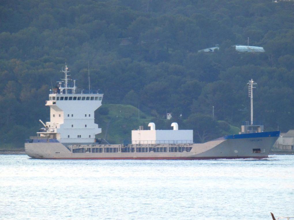 CAPO CINTO , arrivant en petite rade de Toulon et ce dirigeant vers la Seyne sur Mer  le 29 décembre 2019
