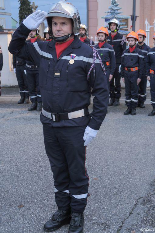 Choristes et pompiers ont fêté leur patronne