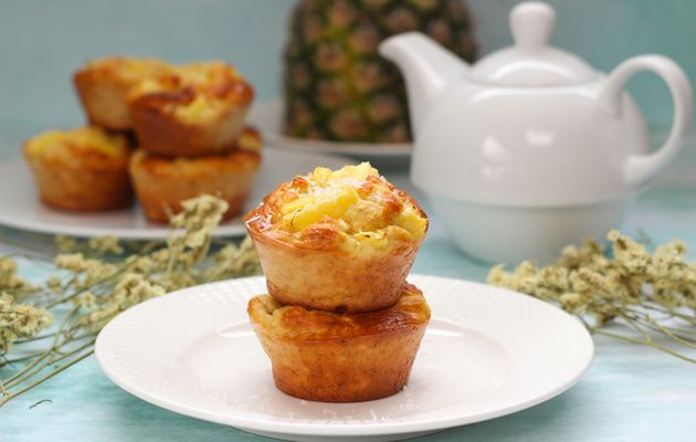MUFFINS LEGERS ANANAS COCO
