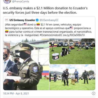 Défaite (bidonnée ? ) de la gauche en Equateur