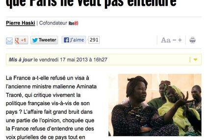 Rue89 se penche sur le cas Aminata Traoré interdite de fait d'entrer en France