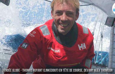 VIDEO - Rebondissement de la nuit, Thomas Ruyant passe en tête du Vendée Globe