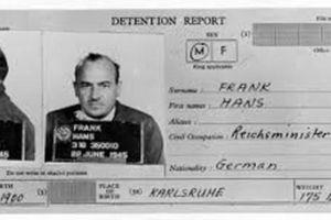 Nuremberg Trial Defendants : Hans Frank