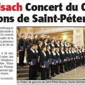 Concert à Neuf-Brisach: Le Choeur des Garçons de Saint Petersbourg - anciens9genie.overblog.com