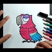 Como dibujar un loro paso a paso 5 | How to draw a parrot 5