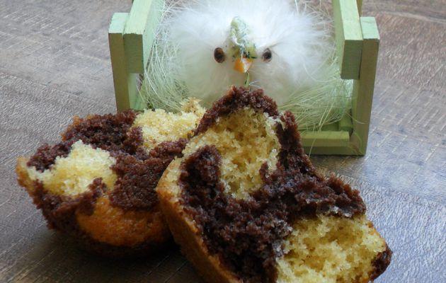 Fairy cakes marbrés chocolat vanille de Pascale