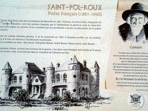 Camaret-sur-mer, ruines de la maison de Saint-Pol-Roux.
