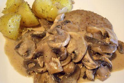 Steak aux champignons de Paris - cuisine légère