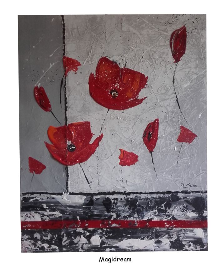 RED FLOWERS 40€   40 X 50 cm