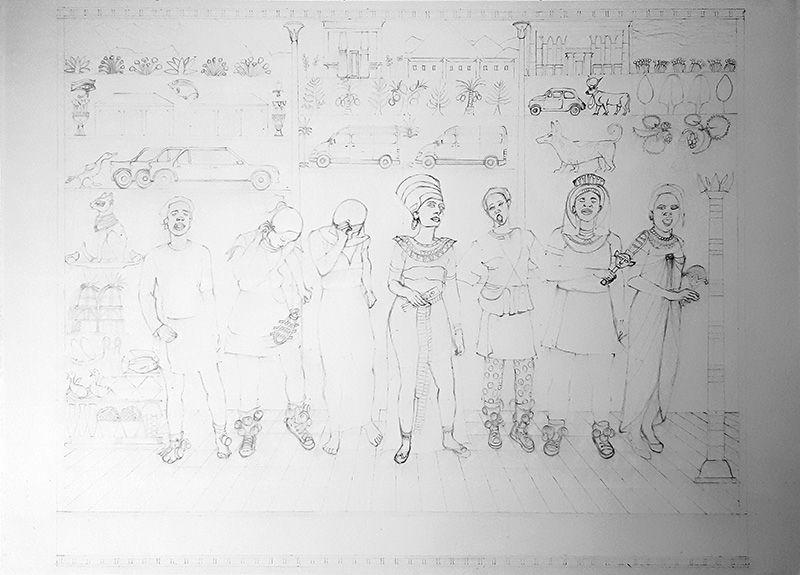 Isabelle Bisson - dessin initial