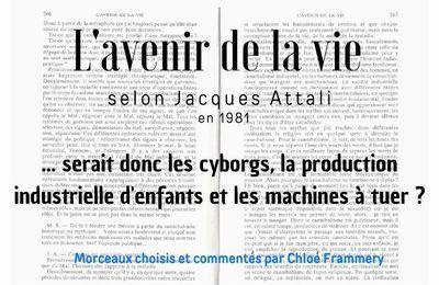 Affaire réglée | Chloé Frammery commente les propos de M. Attali dans l'essai de Michel Salomon : L'avenir de la vie
