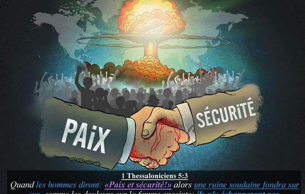 """#Image de la semaine : Quand les hommes diront : """"Paix et sécurité..."""