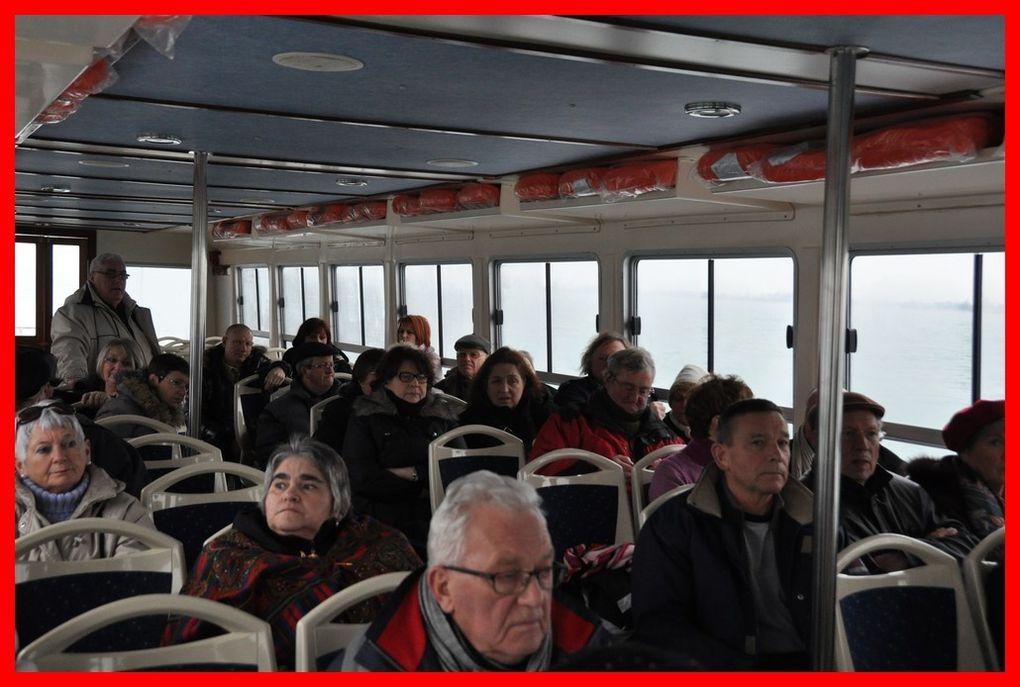 Le départ pour Burano , sous la neige le 11 février 2013