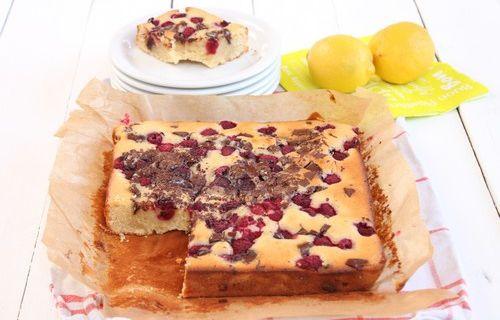 Gâteau Moelleux aux Pépites de Chocolat, Citron & Framboise pour fêter les 3 ans du Blog !