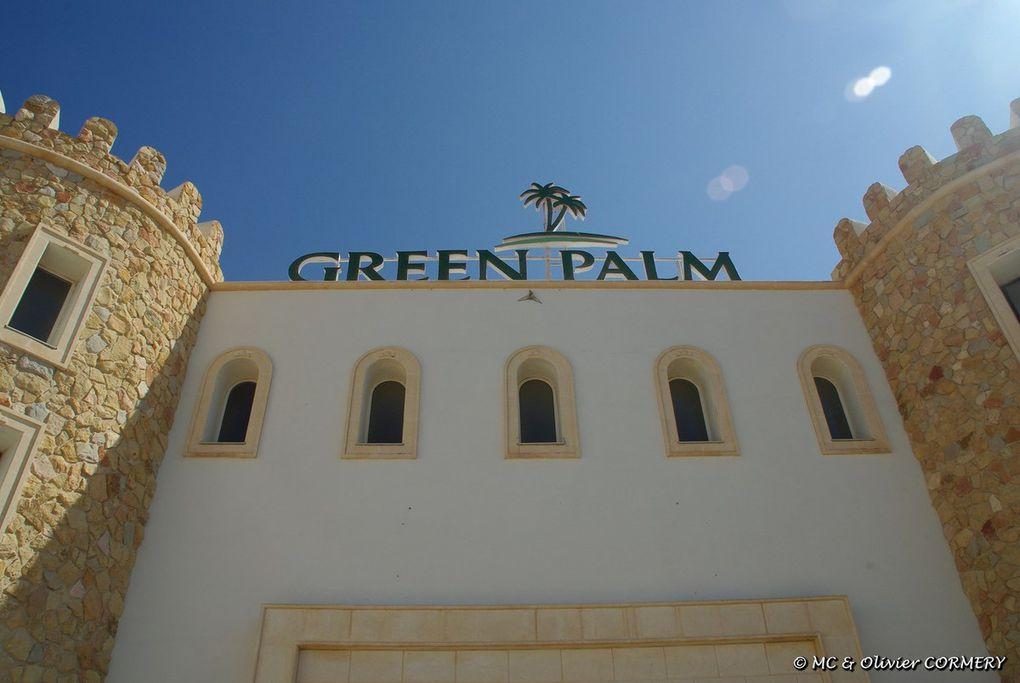 Retour sur la plage de l'hôtel Green Palm...