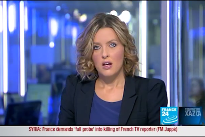 2012 01 11 @21H00 - LAURA BAINES, FRANCE 24, LIVE FROM PARIS