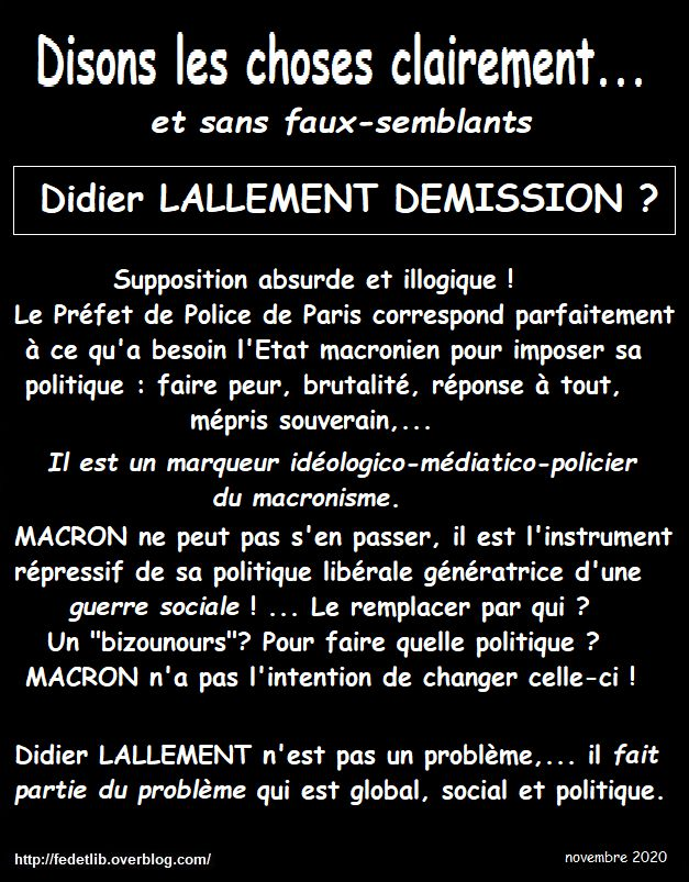 LALLEMENT DEMISSION ?
