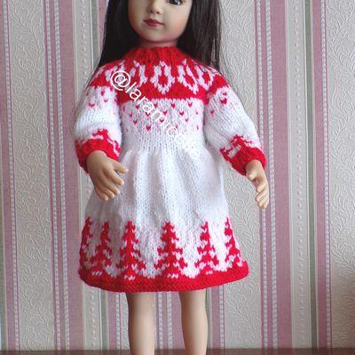 tuto gratuit poupée  : robe de NOËL