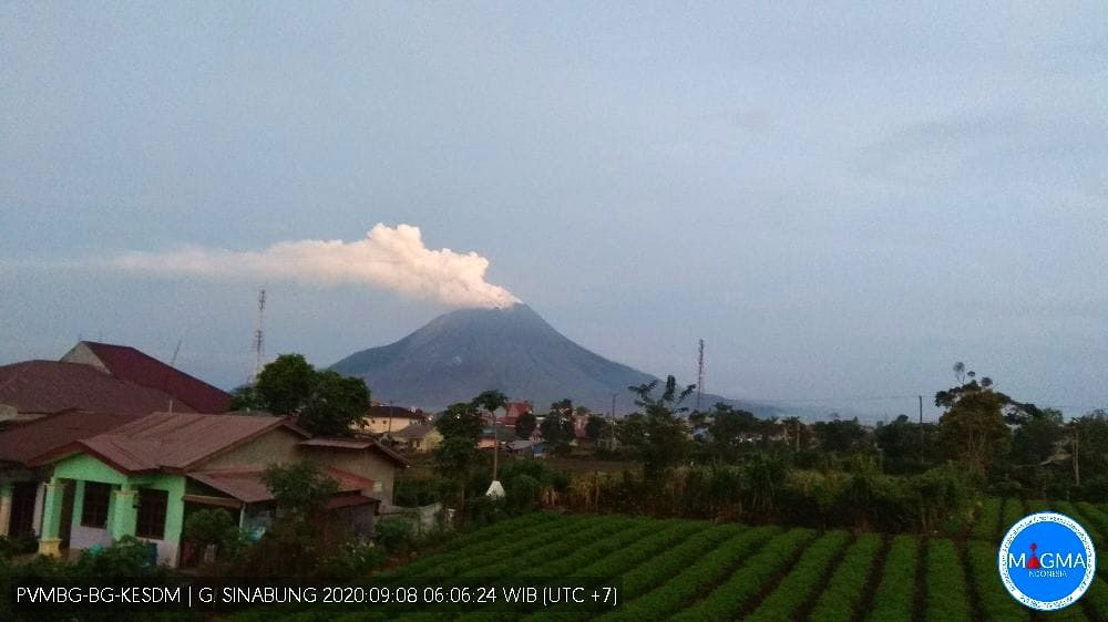 Sinabung - plume of 08.09.2020 / 06:06 - webcam PVMBG / Magma Indonesia