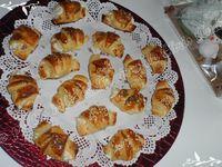 Mini croissants jambon et boursin