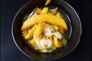 Salade de fruits exotiques au sirop épicé