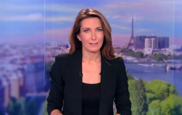 ANNE-CLAIRE COUDRAY @ACCoudray @TF1 @TF1LeJT pour LE 13H WEEK-END #vuesalatele