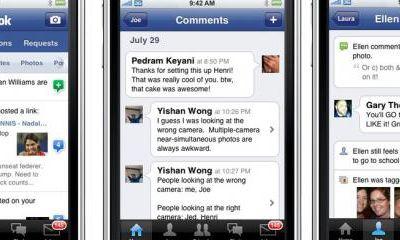 Facebook a mis en ligne ce matin sa nouvelle application pour iPad et iPhone