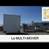 Le MULTI-MOVER en action : déplacement de remorque magasin HVK Humbaur 1 essieu