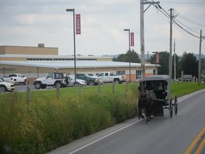 Le port de Baltimore - Des Amish