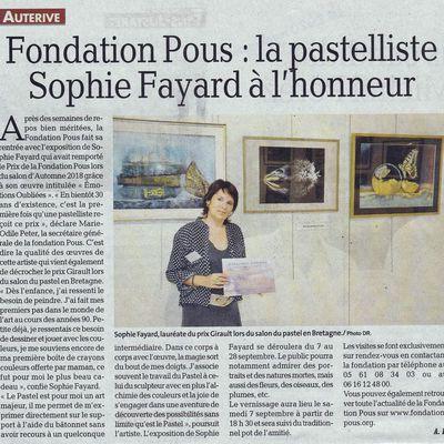 Expo Sophie FAYARD vu par La Dépêche du Midi