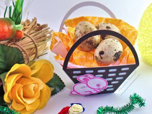 Boites - Bonbons - Pâques - 2018 - Oeuf - Panier - Herbe - Facile - Ruban - Chocolats - Lapin
