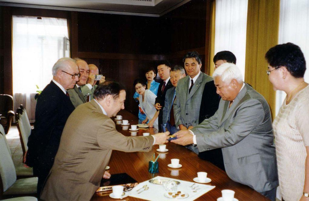 Visite du groupe interparlementaire du Sénat en 2002