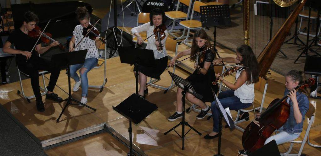 Streicherorchester unter der Leitung von Christine Gaillard