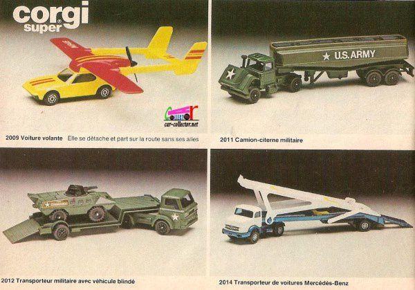 Diaporama : catalogues Corgi des annnées 70 et série militaire