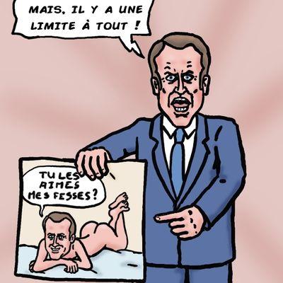 Macron et les caricatures
