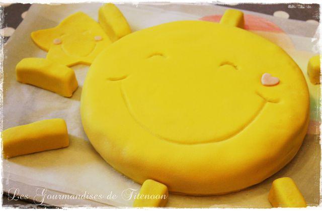 Le Gâteau Soleil des Bisounours