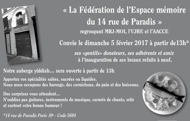 INAUGURATION OFFICIELLE DES LOCAUX RÉNOVÉS