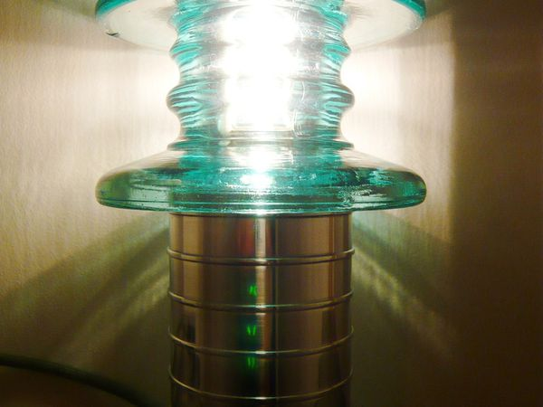 """ ISOLATEUR 140 "" - Lampe photophore design néo-contemporain - VENDUE !!"