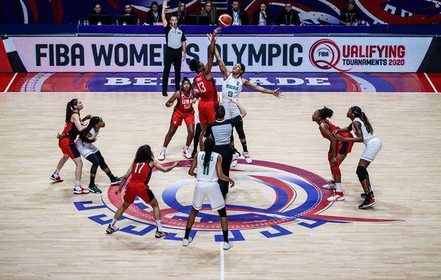 TQO féminin 2020 : les D'Tigress du Nigéria étouffent les Américaines à la mi-temps (+14)