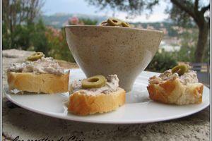 Rillettes de sardines aux olives vertes
