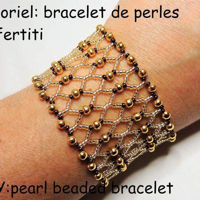 Tutoriel: faire un bracelet de perles Néfertiti