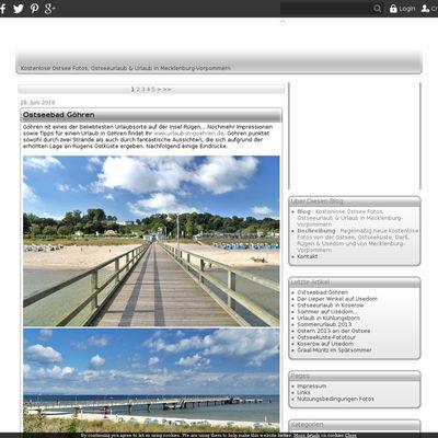 Kostenlose Ostsee Fotos, Ostseeurlaub & Urlaub in Mecklenburg-Vorpommern