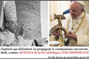 François, un apostat pro-communiste à la tête de l'Eglise montinienne