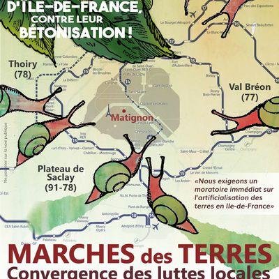 Marche des terres les samedi 9 et dimanche 10 octobre 2021