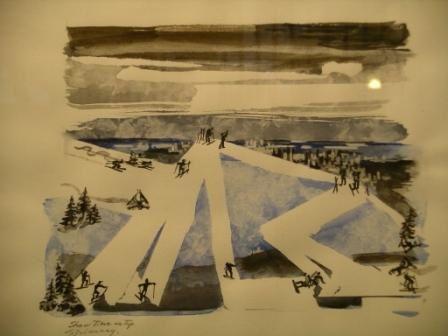 Les dernières oeuvres à l'encre et les sketches exposés au West End Community Center