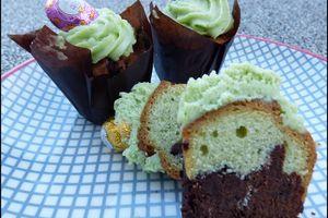 Muffins marbrés chocolat & pistache